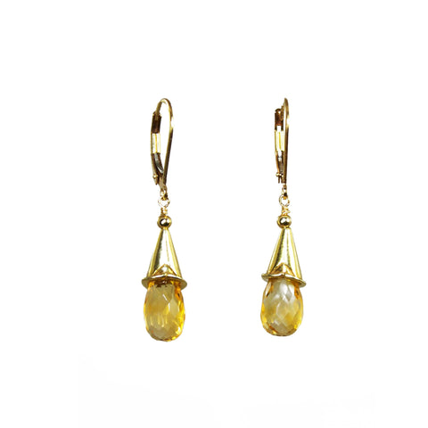 Citrine pod earrings