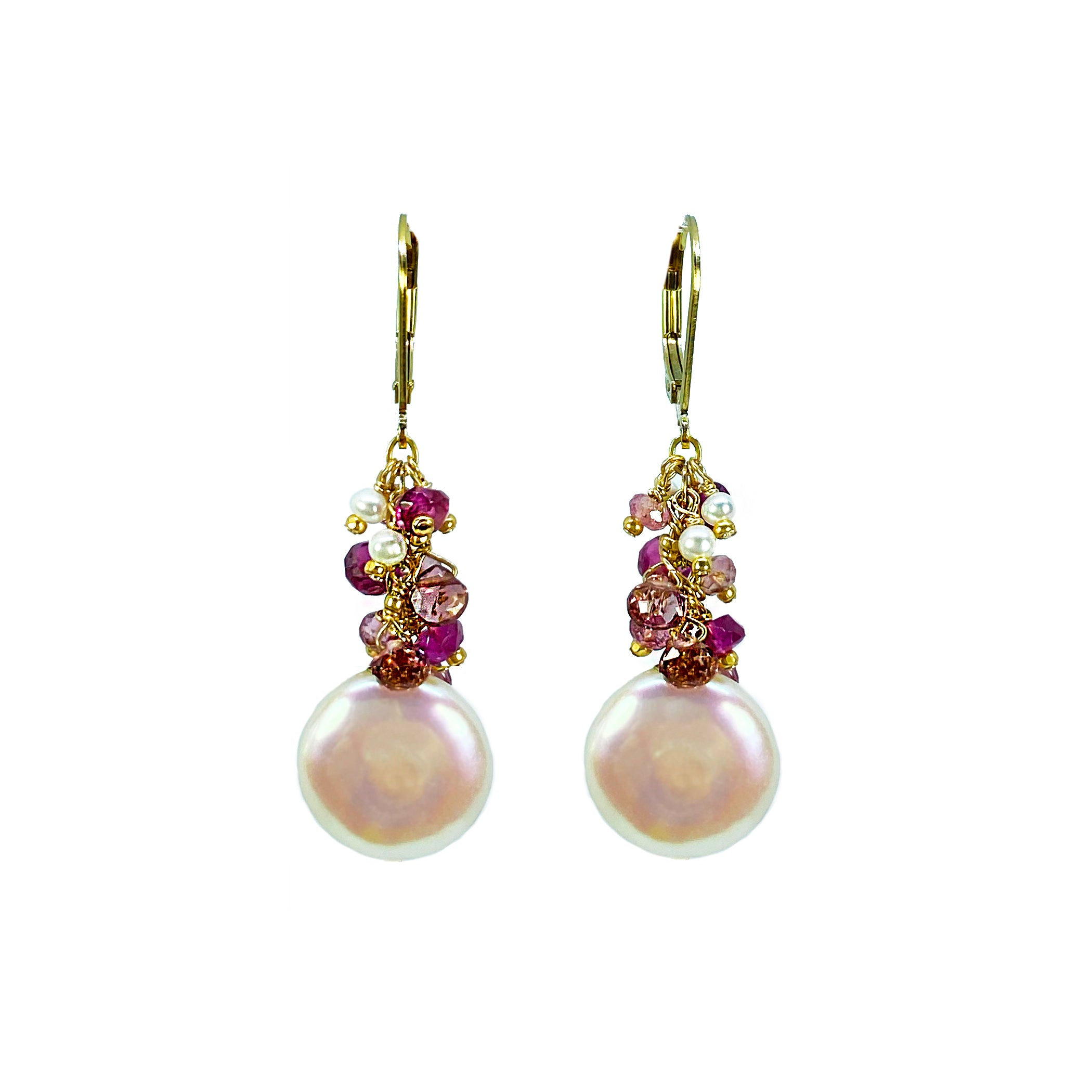 Coin Pearls, Pink Tourmaline & Pearls