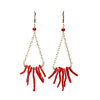 Carrie Underwood Italian Red Branch Coral Earrings