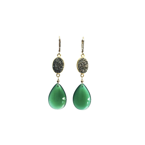 Green Onyx and Druzy