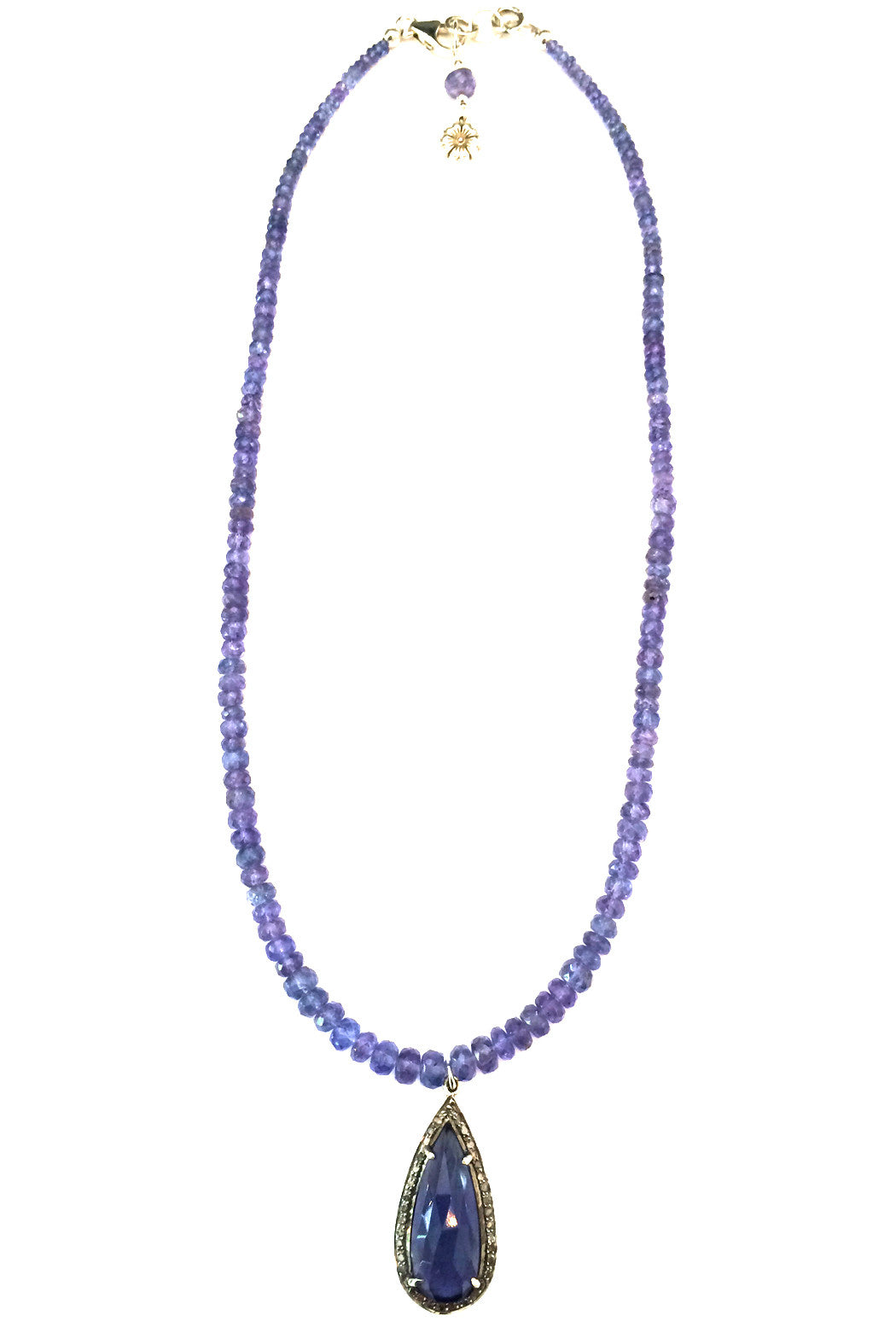 with amethyst silver sterling grande necklace holiday sale aquamarine violet tanzanite iolite moss products and