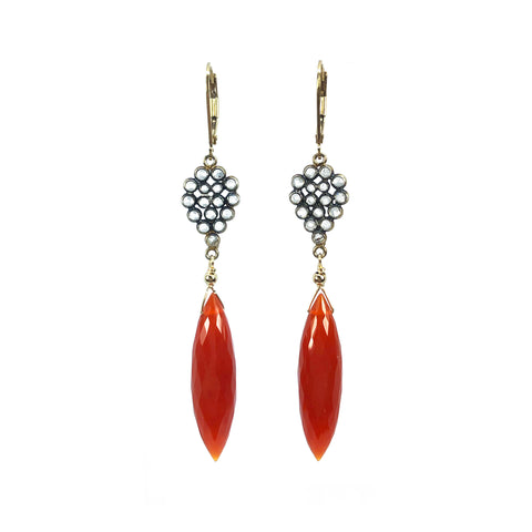 Carnelian and White Topaz