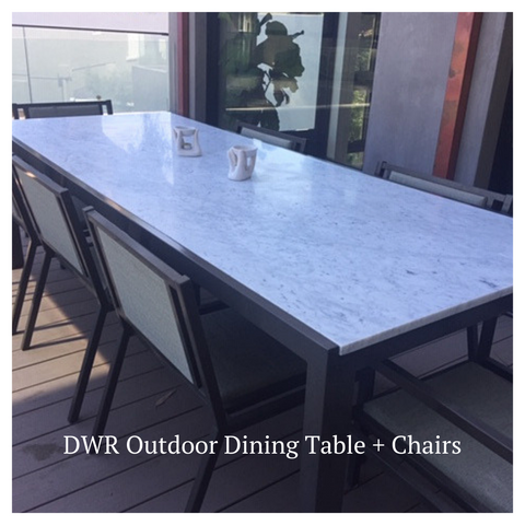 dwr outdoor furniture purchase from Modern Resale in Clients home