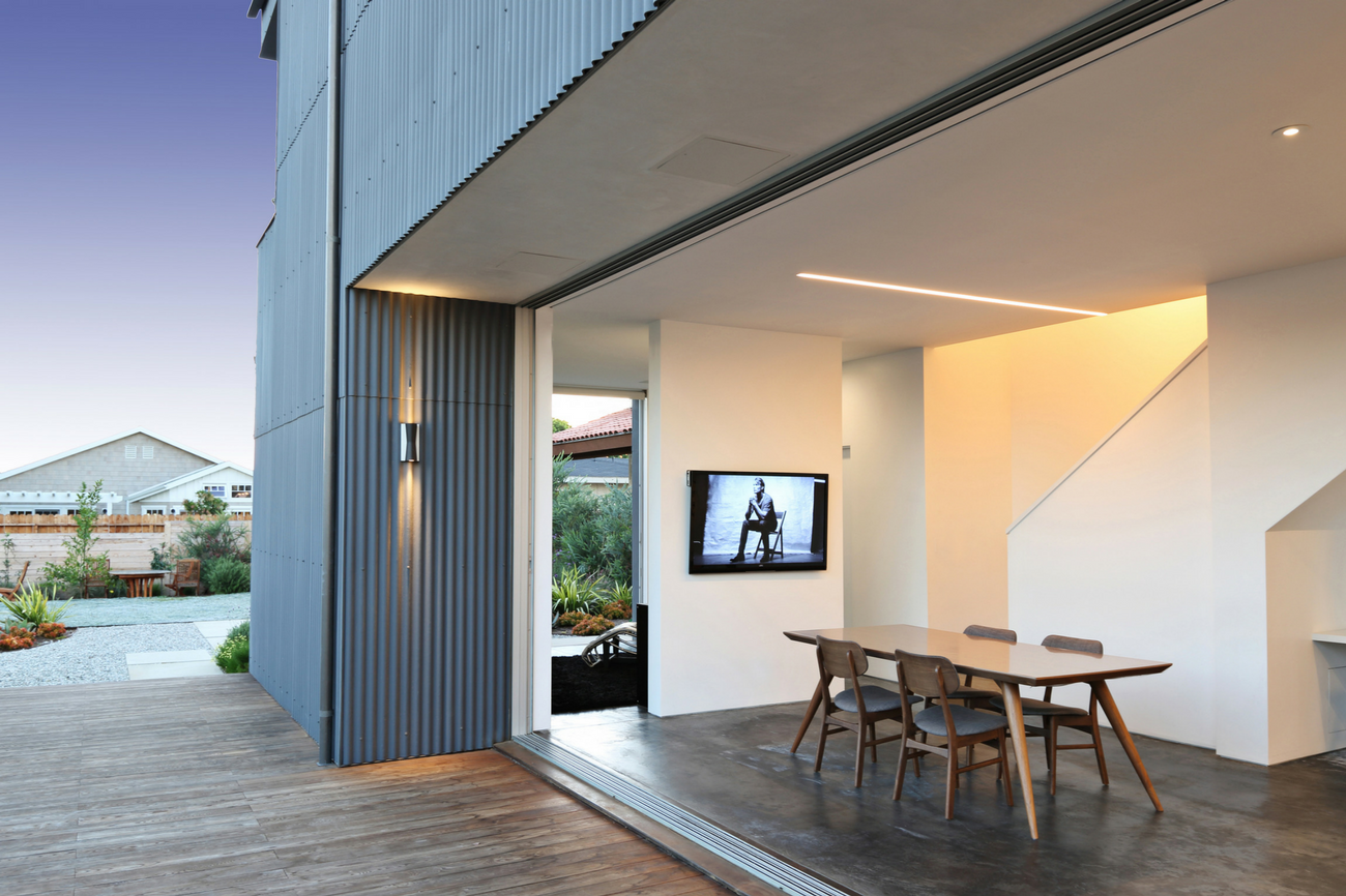 W3 Architects Monokuro House Dining Room