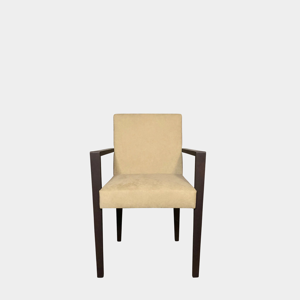 Ultra Suede Armchair, Dining Chair - Modern Resale