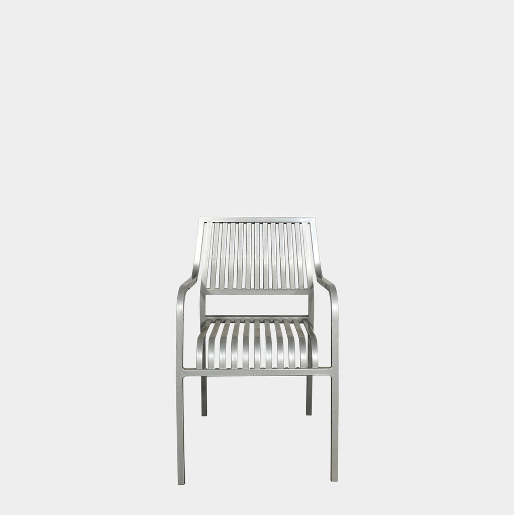 Driade Pip-E Stackable Metal Finish Chairs by Philippe Starck