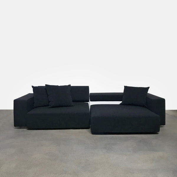 B&B Italia Black Fabric Andy Sofa by Paolo Piva | LA | Consignment