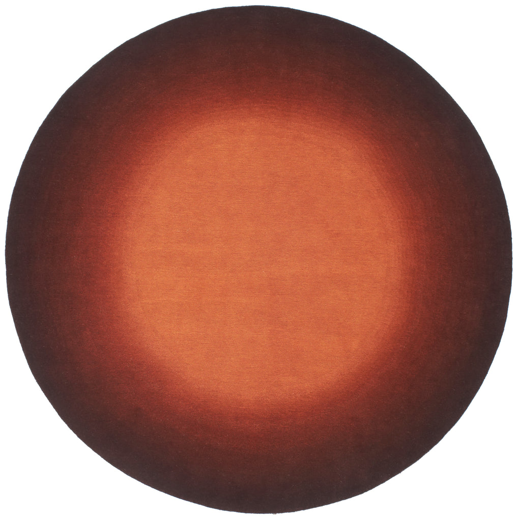 Aura Burnt Orange 8 Foot Round, Rug - Modern Resale