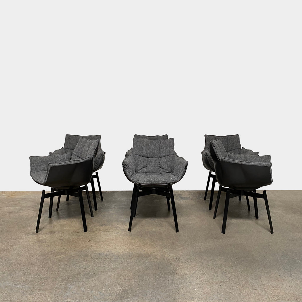 Husk Swivel Dining Chairs, Chair - Modern Resale
