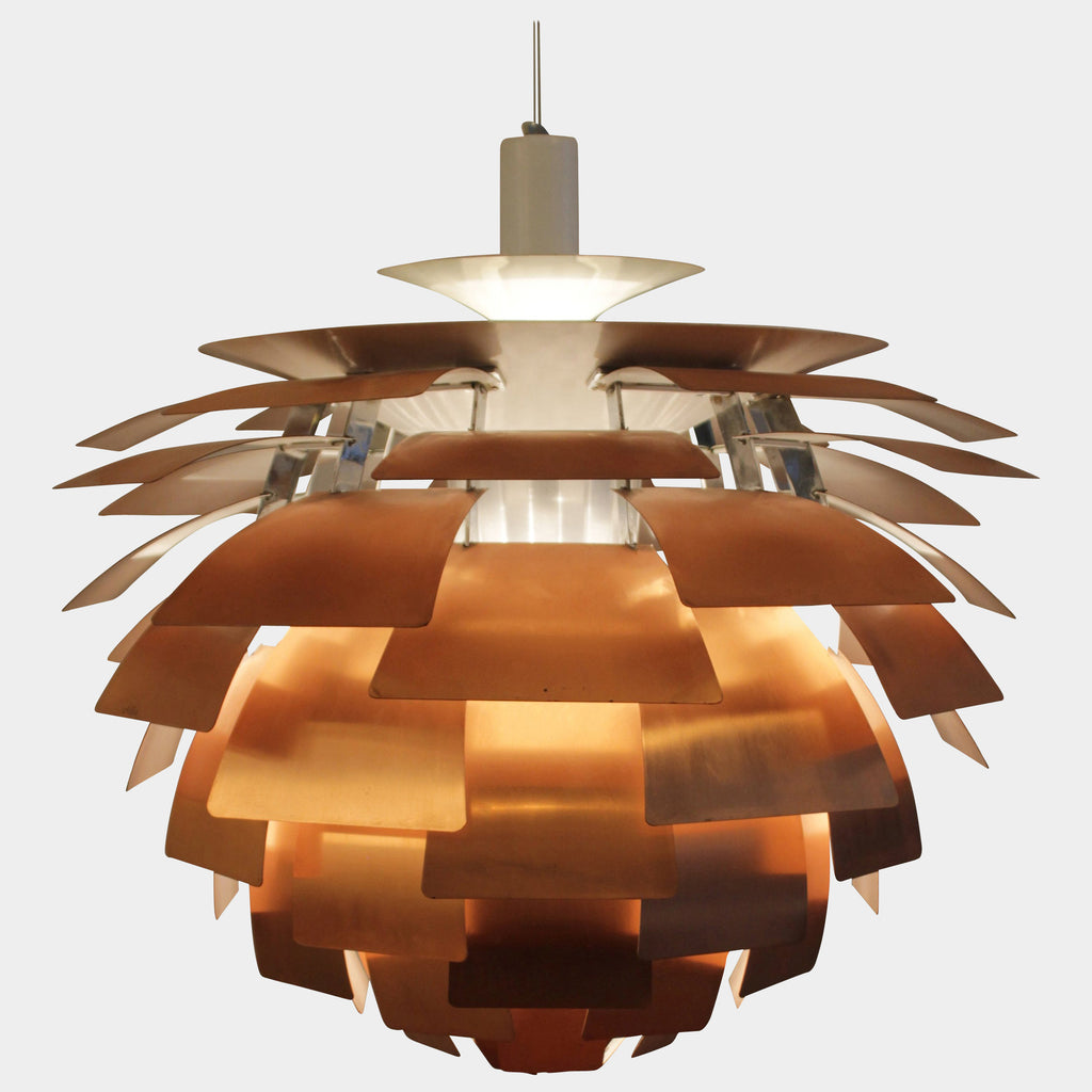 Copper PH Artichoke Lamp, Ceiling Light - Modern Resale