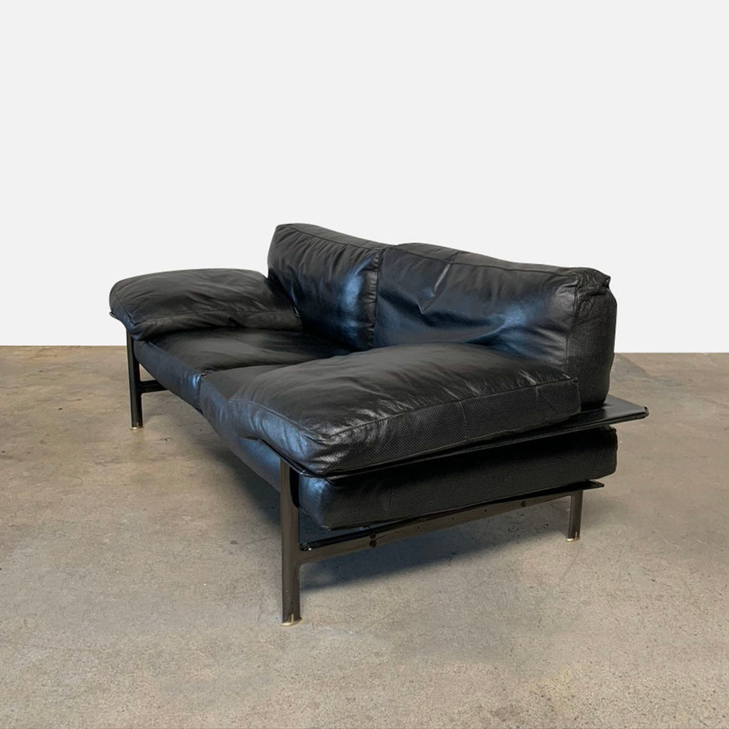 Diesis Leather Sofa, Sofa - Modern Resale