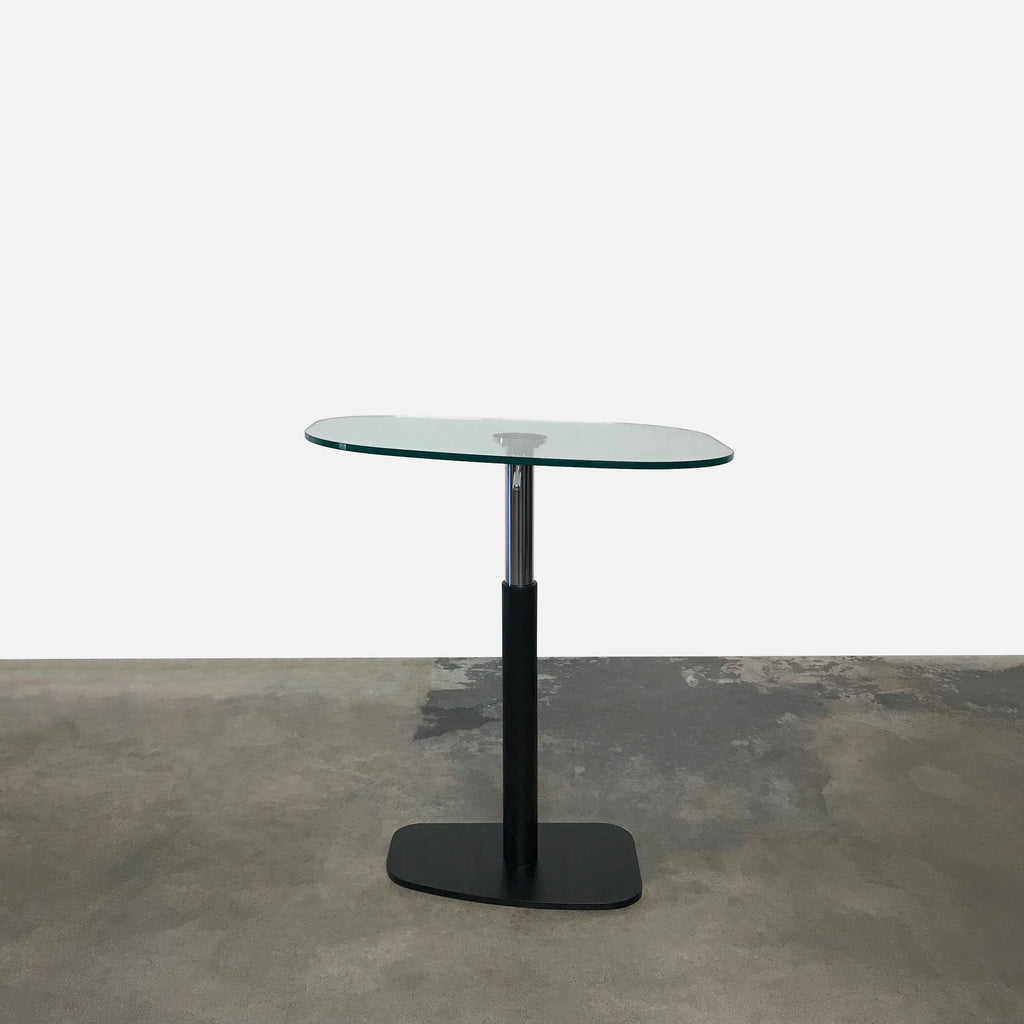 Ligne Roset Glass Top Piazza Adjustable Table by Michael Koenig