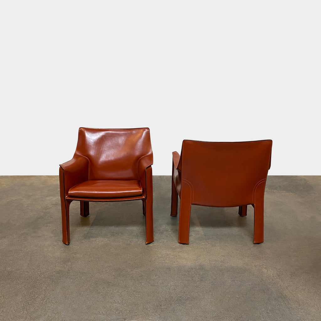 Vintage Leather Cab Chairs, Armchair - Modern Resale