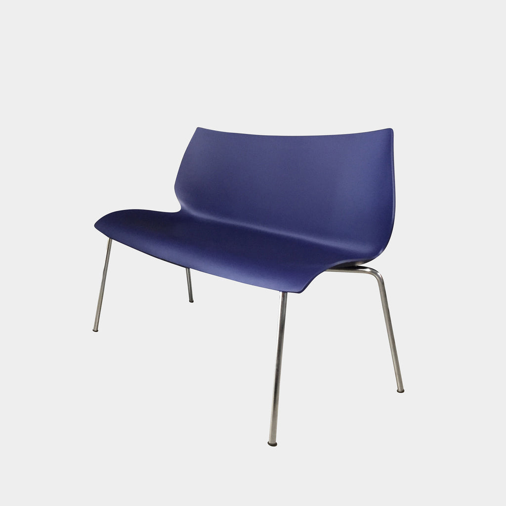 Kartell Blue 'Maui' Bench by Vico Magistretti