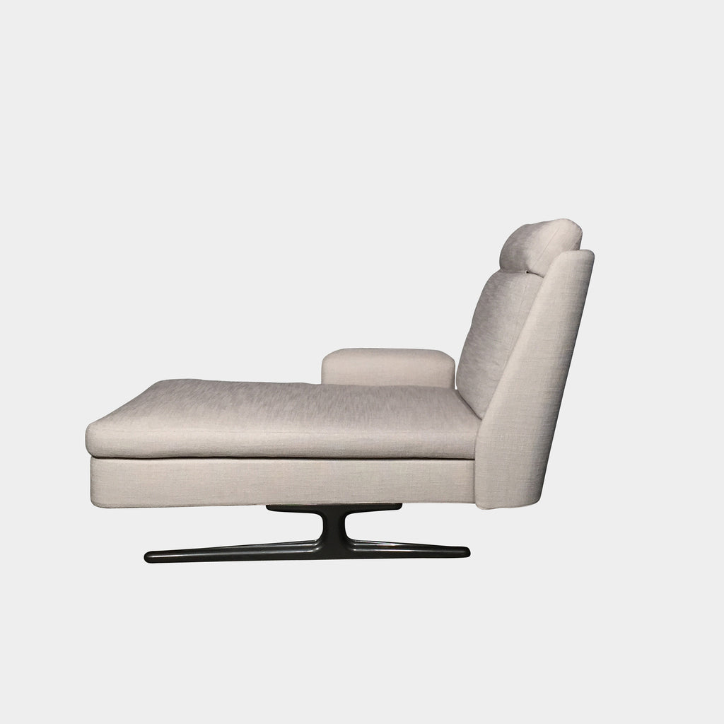 Minotti Oatmeal / Ecru Fabric Spenser Chaise Lounge | LA | Consignment