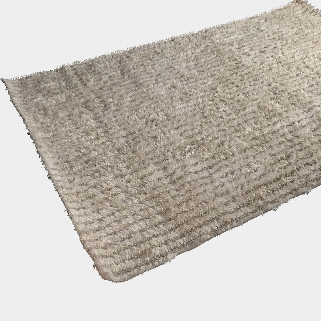 COR Carpets 'Via' Shag Rug Striped Ecru color | LA | Consignment