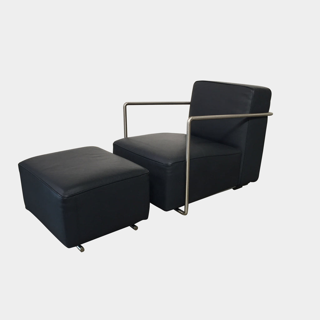 Flexform A.B.C. Lounge Chair & Ottoman by Antonio Citterio
