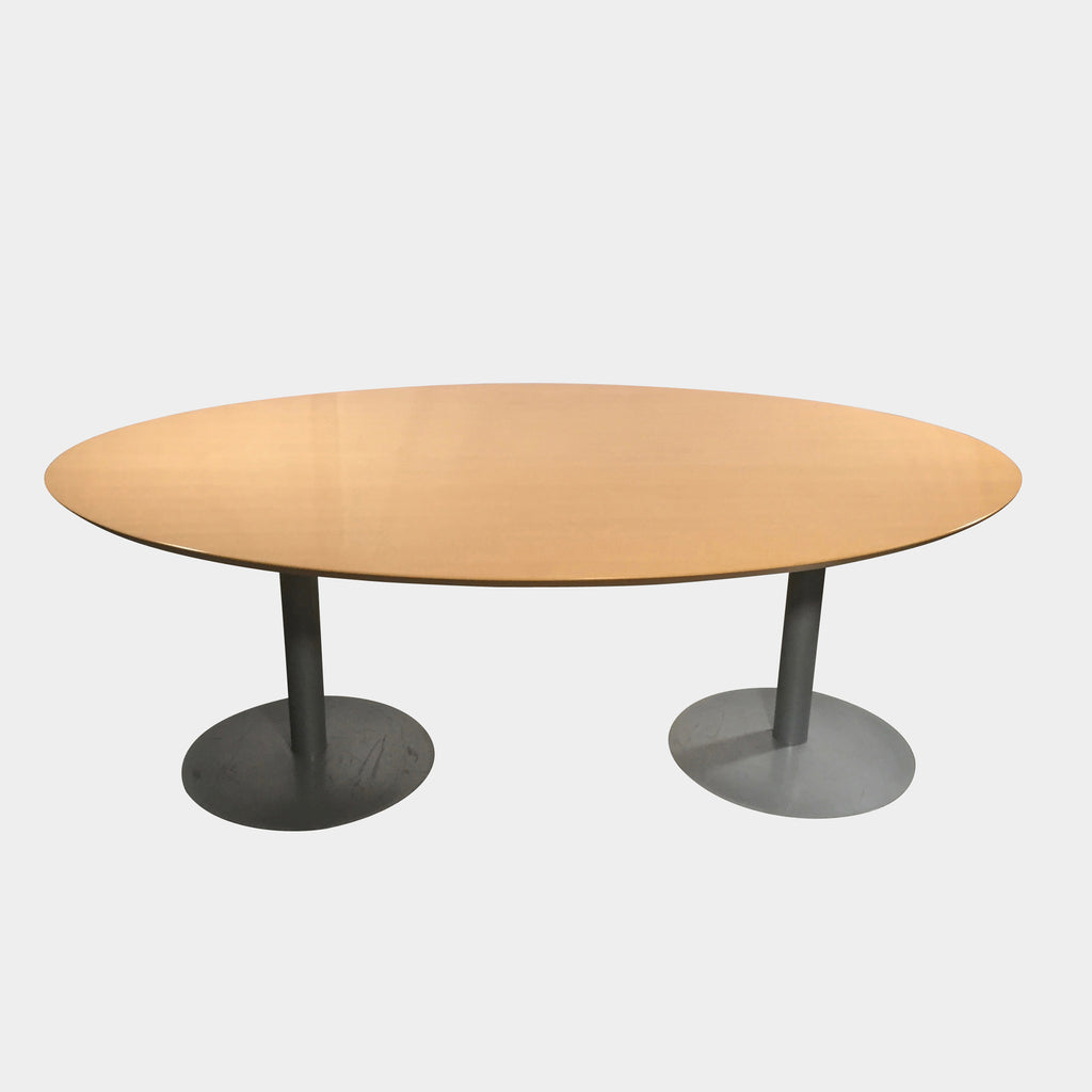 Arco Oval Wood & Metal Dining Table