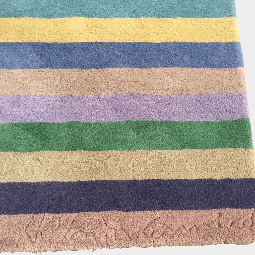 Multi-Colored Striped Runner Rug