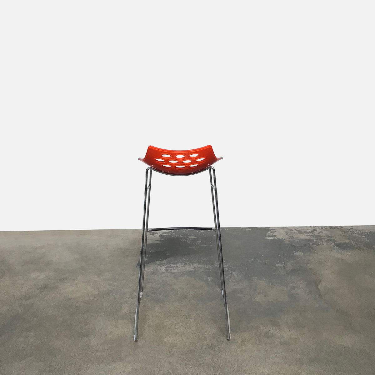Calligaris White and Orange Jam Bar Stools | LA | Consignment