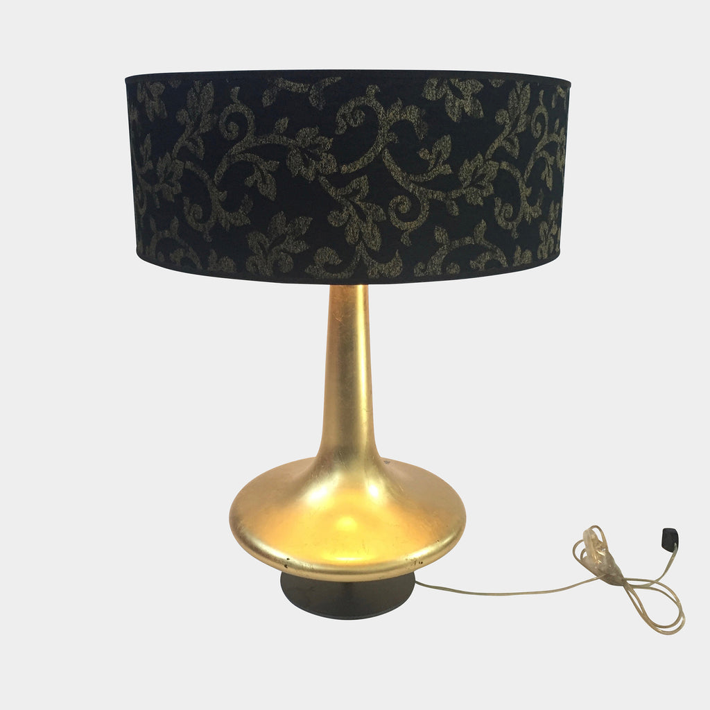 Penta Gold Leaf Table Lamp with Black Shade