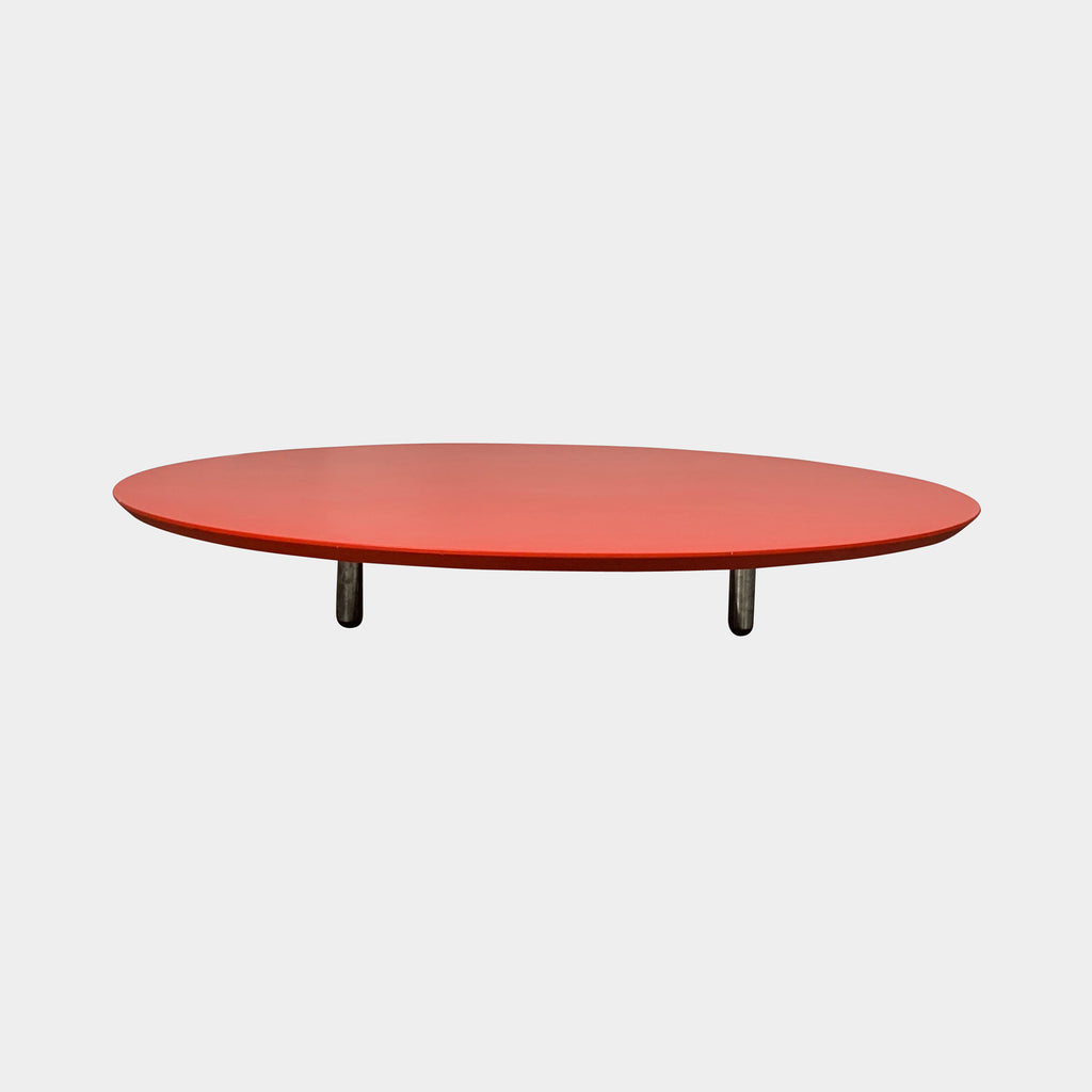 "Cappellini Red Lacquer ""Low Pad"" Table by Jasper Morrison"