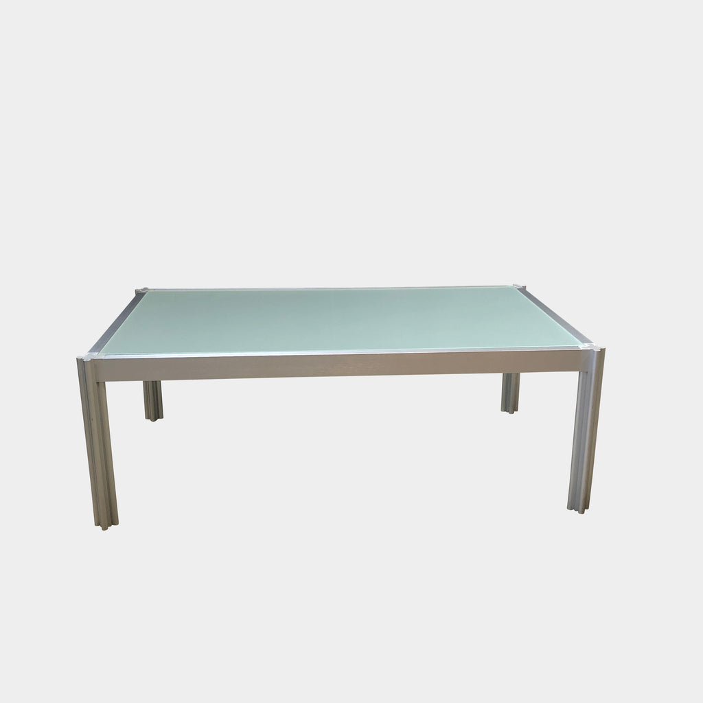 Italian Glass Coffee Table.Frosted Glass Coffee Table