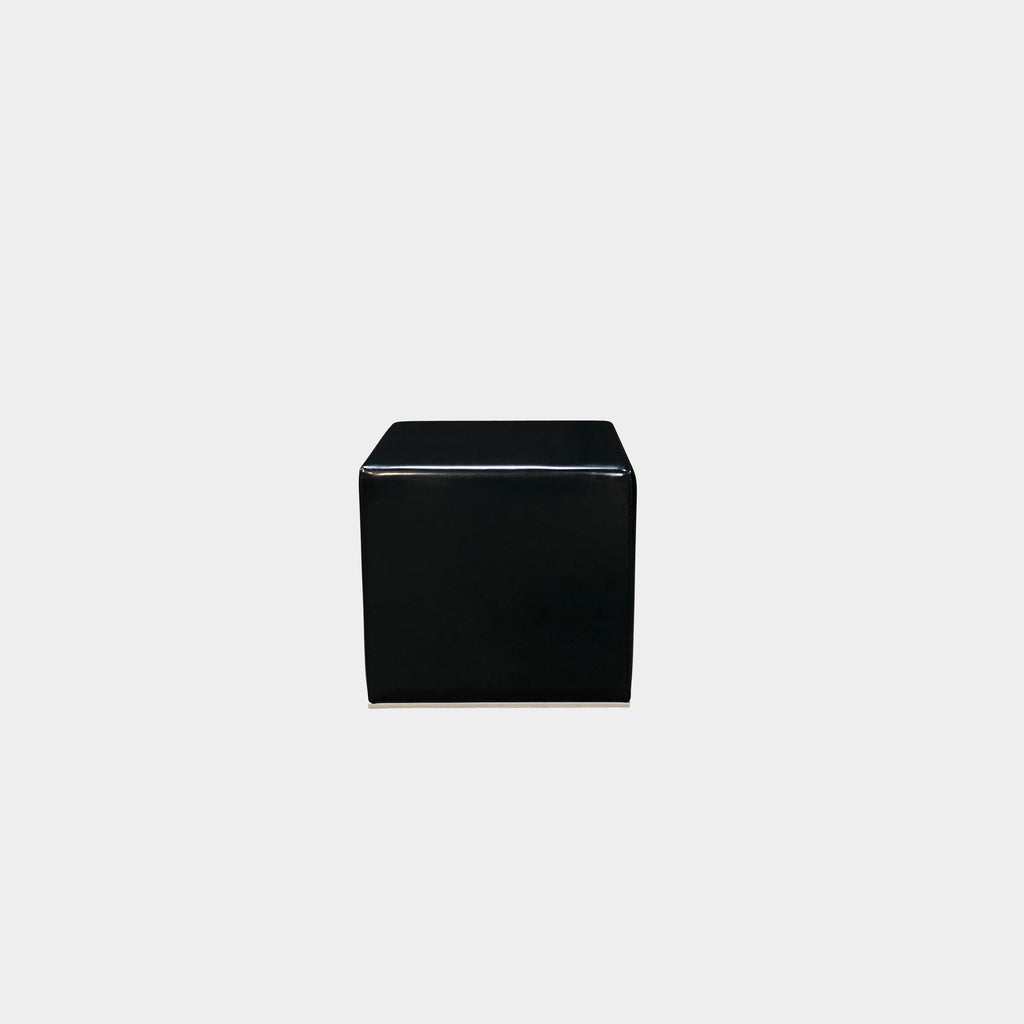 Cassina 'Cube' Ottoman by Piero Lissoni Black Patent Leather look