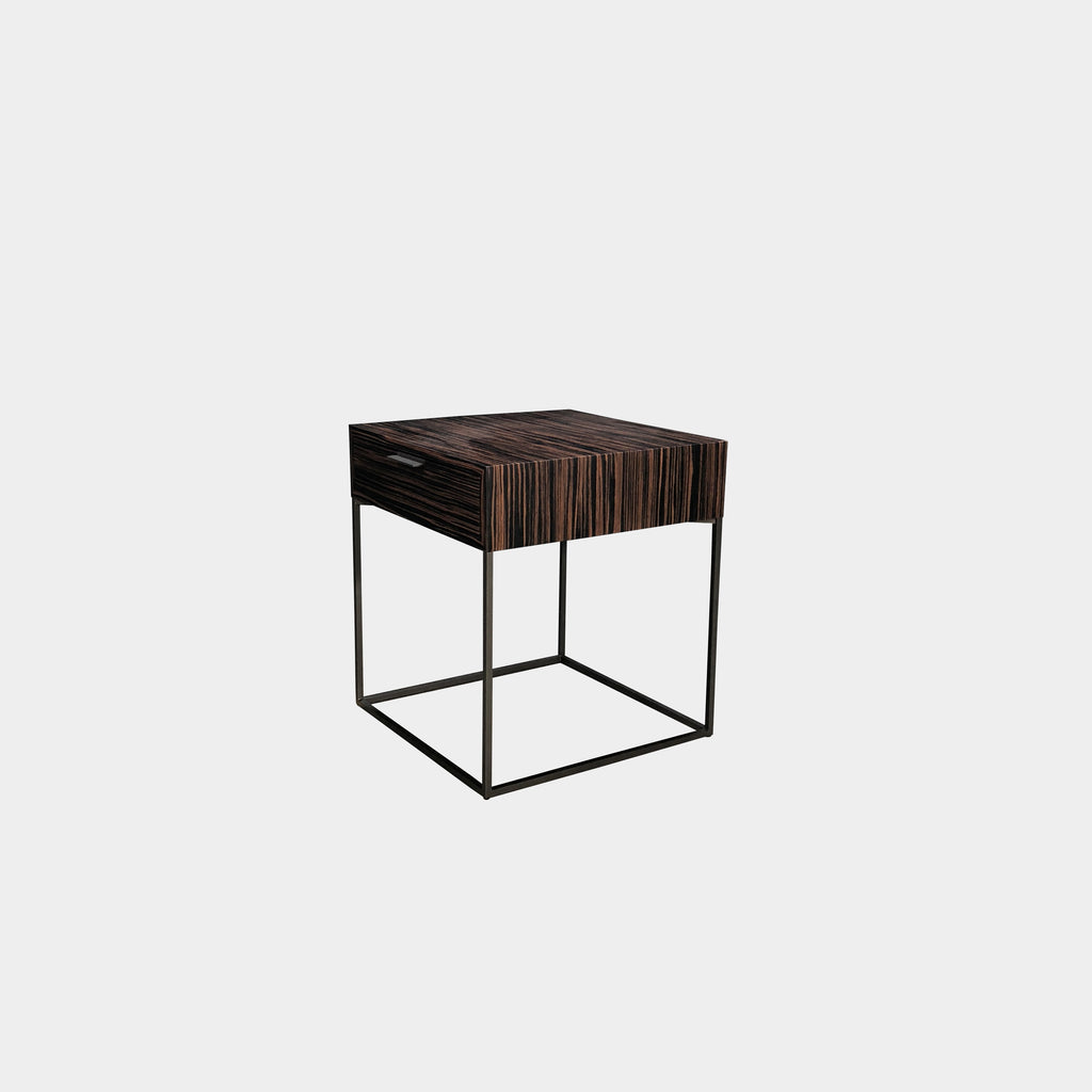 Zanotta Ebonized Wood 'Oscar' Nightstand