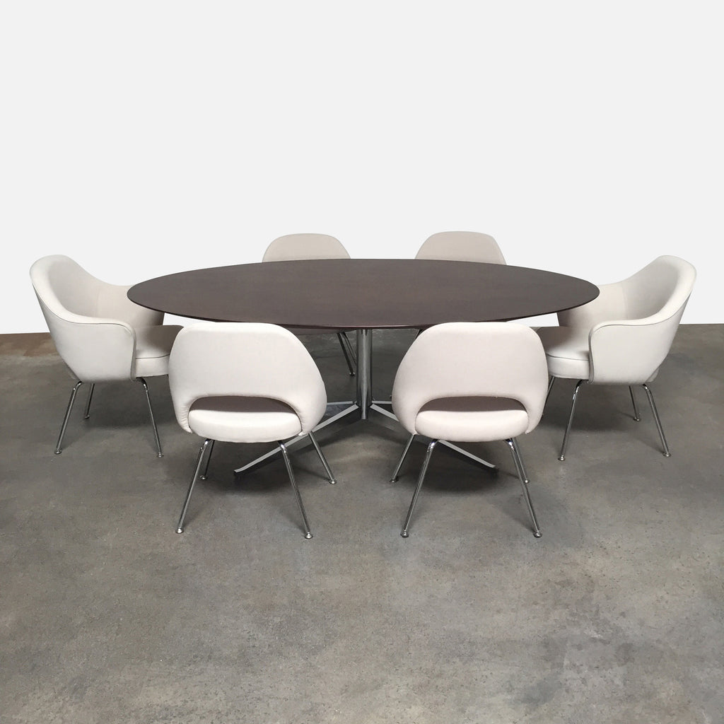 Elliptical Oval Dining Table, Dining Table - Modern Resale