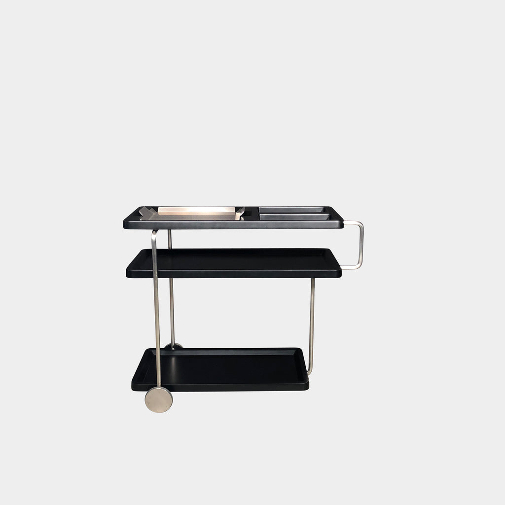 BD Barcelona Black and Metal Happy Hour Service Bar Cart by Haberli
