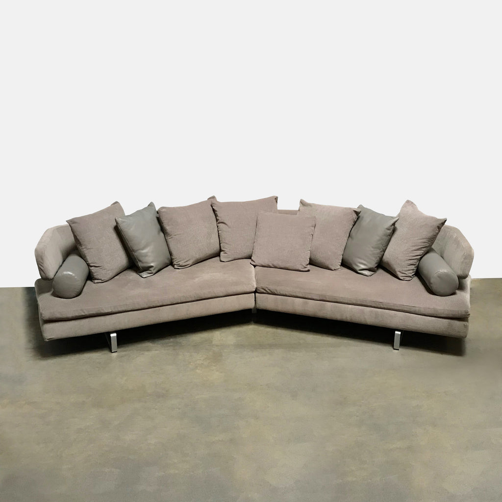 B&B Italia 'Arne' Grey-Bown Sectional by Antonio Citterio