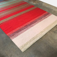 Red Striped Woven Rug