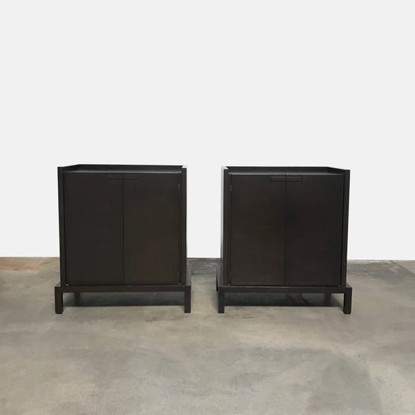 Maxalto Brown Oak Gemina Cabinet by Antonio Citterio | LA| Consignment