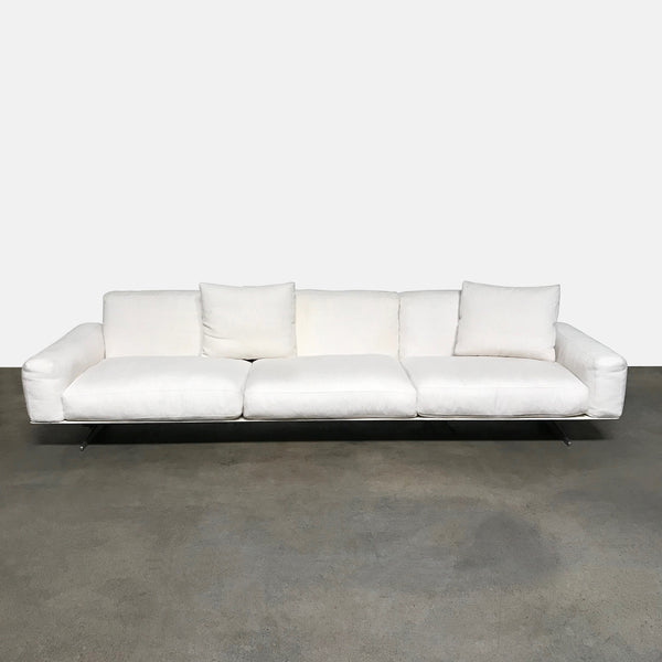 Flexform White Fabric Soft Dream Sofa by Antonio Citterio