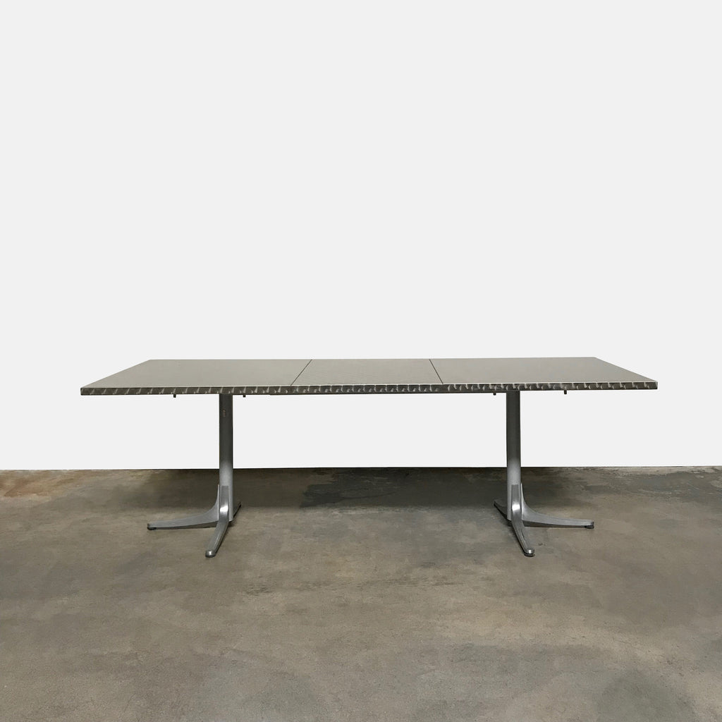 DWR Inox Extendable Stainless Steel Top Outdoor Dining Table