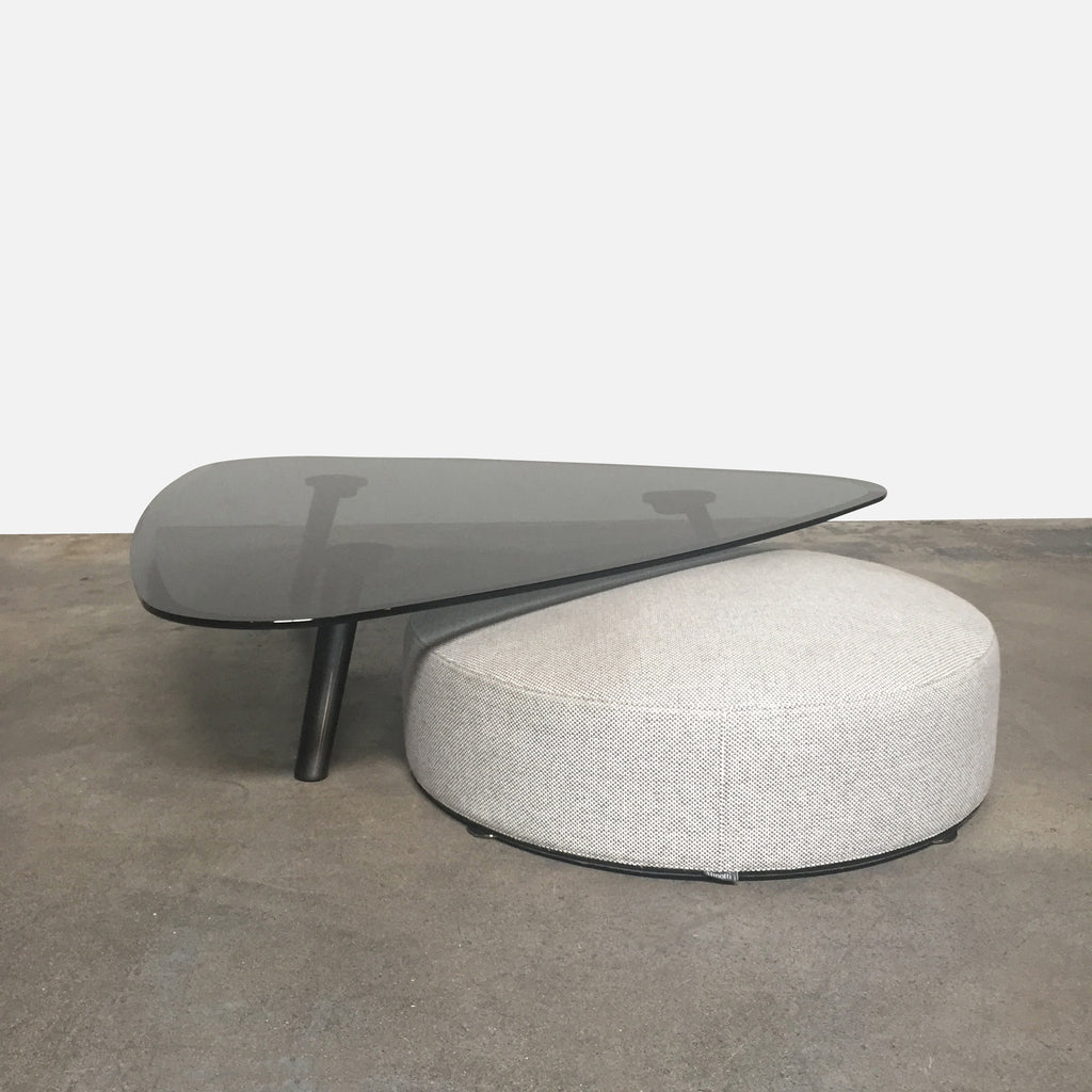 Sullivan Coffee Table With Davis Ottoman, Coffee Table - Modern Resale