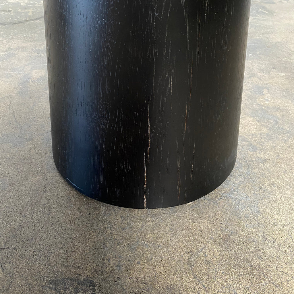 Black Wood and Brushed Gold Side Tables (2 in Stock), Side Table - Modern Resale
