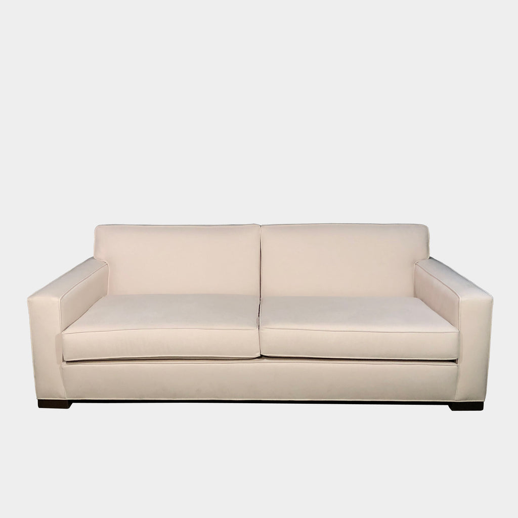 Archetype White Linen Blend Structure Sofa