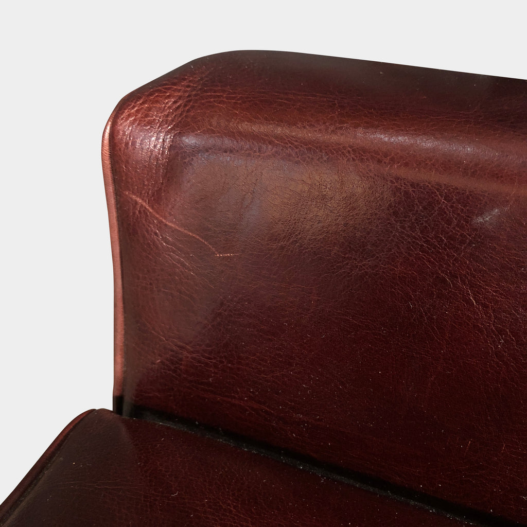 Promemoria Bordeaux Leather Stool / Side Chair (2 in Stock)