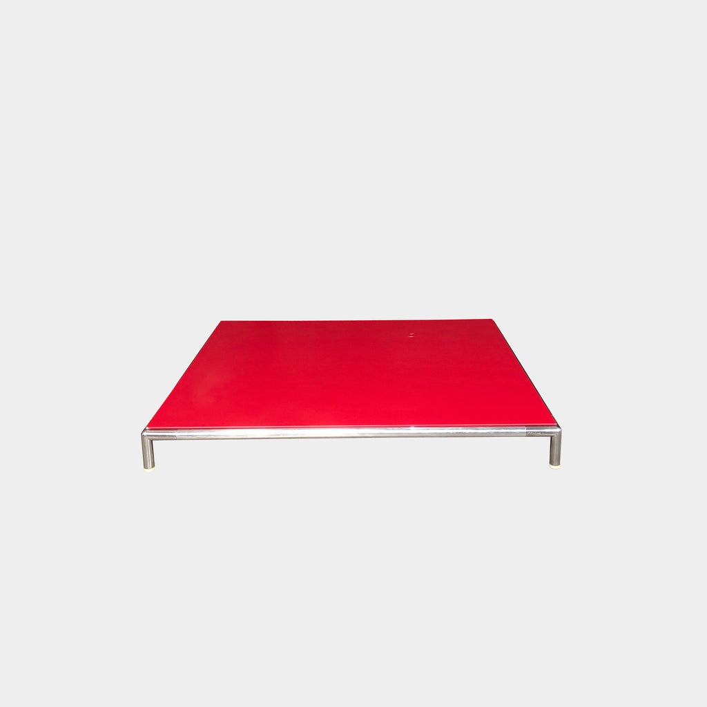 B&B Italia Red Lacquer George Coffee Table | LA | Consignment