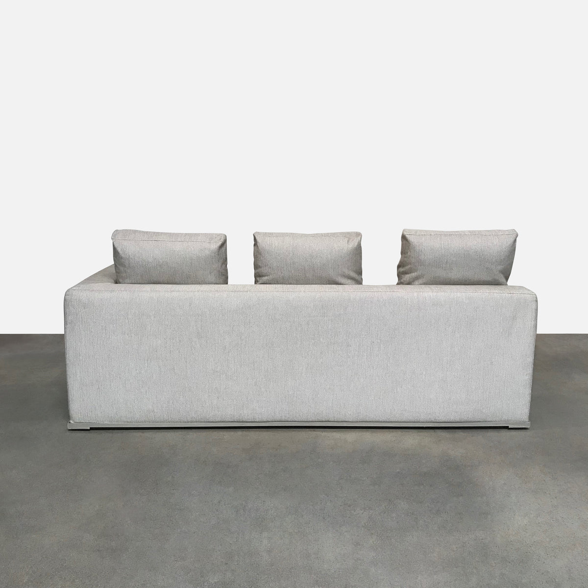 Maxalto 'Omnia' Light Taupe with Grey Flecks Right End Sofa Bed by Antonio Citterio