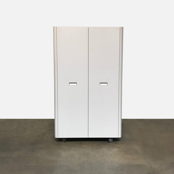 Ligne Roset White 'Travel Studio' Wardrobe Unit on Castors by Pagnon & Pelhaitre