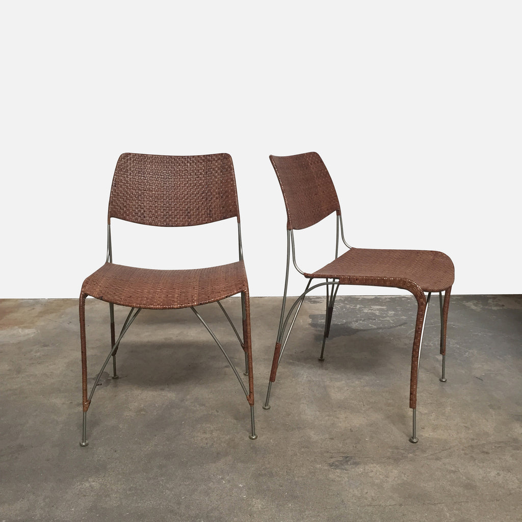 Rattan Dining Chairs (Set of 2), Dining Chair - Modern Resale