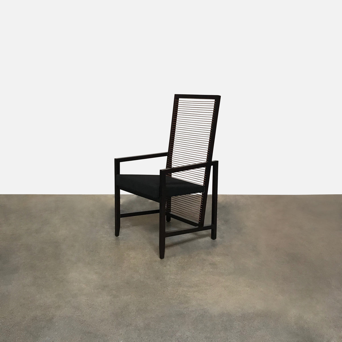Bonacina Pierantonio Dark Brown 'Astoria' Wood Side Chair (3 in stock) by Franco Bizzozzero
