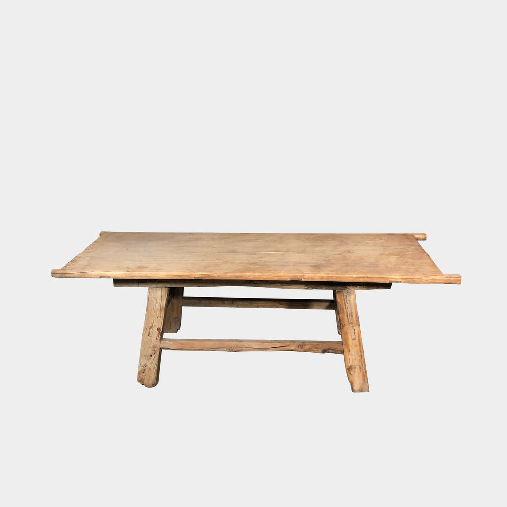 Antique Table - Chinese  Compliment and contrast modern settings with this exquisitely crafted wood table/ bench.