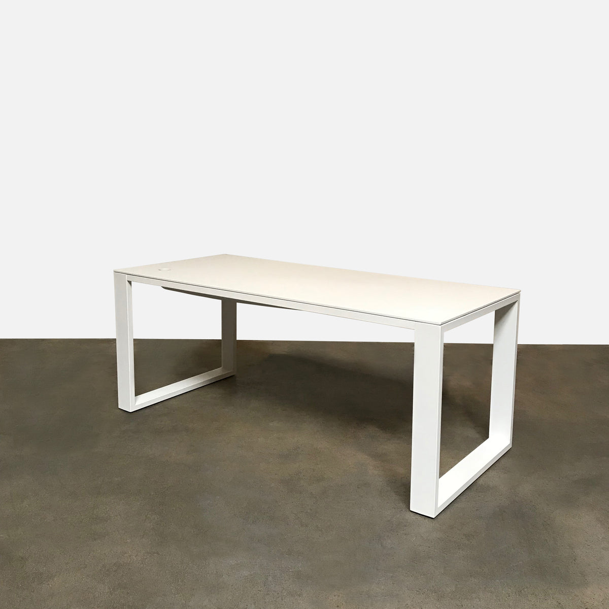 Viccarbe White 'Leg_In' Lacquer Desk / Table