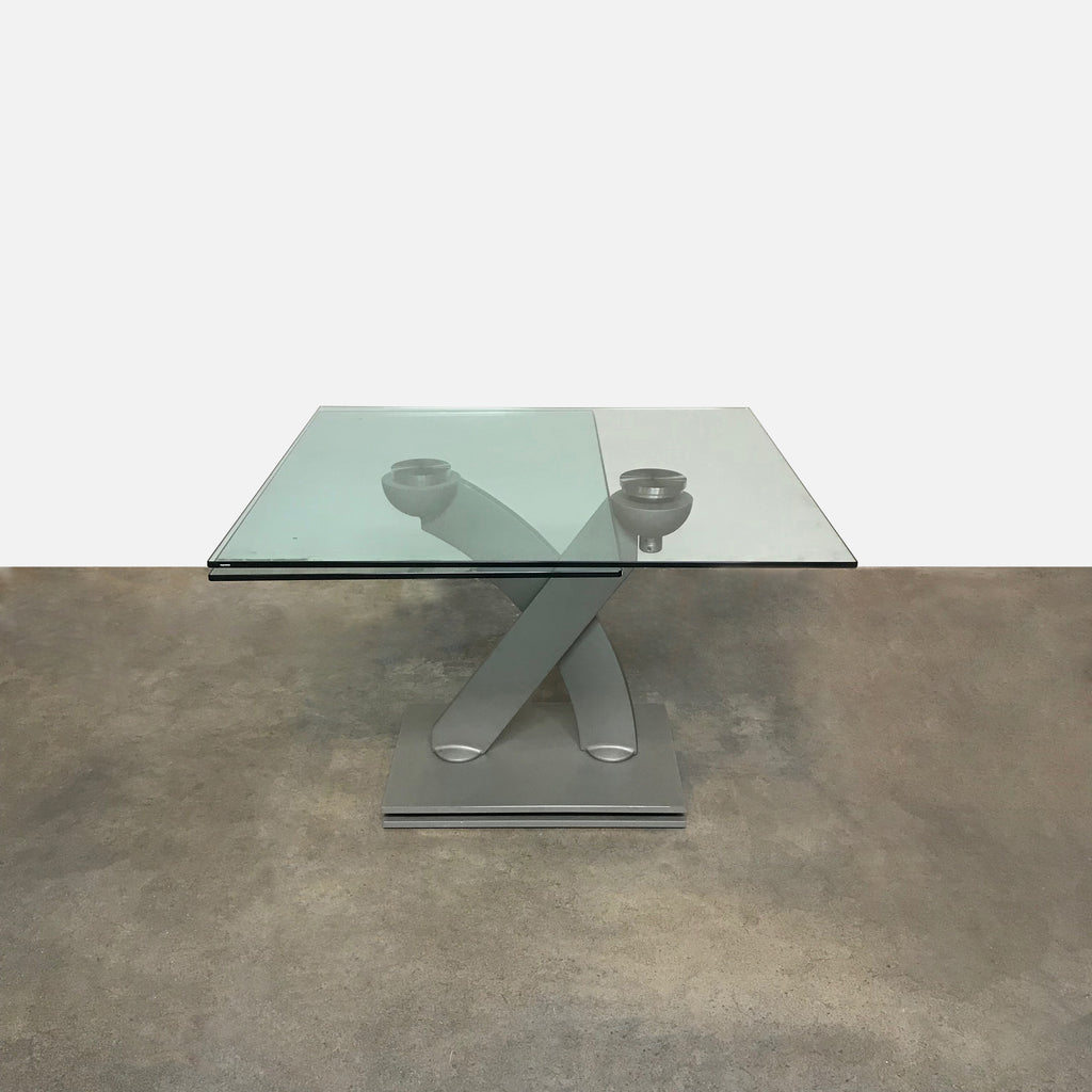 Roche Bobois 'Banzai' Cast Iron and Glass Expandable Dining Table