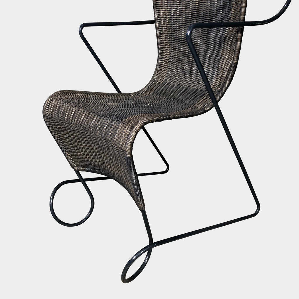 Zigzag Wicker Armchair, Armchair - Modern Resale