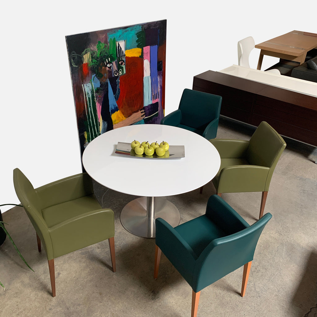 Green Dining Armchair, Dining Chair - Modern Resale